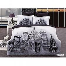 Комплект полутораспальный Arya Сатин Печатное 3D Edward F0290357