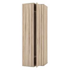 Шкаф платяной 124.060 Марта 06 угловой с гнутой дверью белый/дезира эш