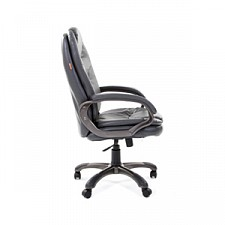 Кресло для руководителя Chairman 668 серый/серый, черный