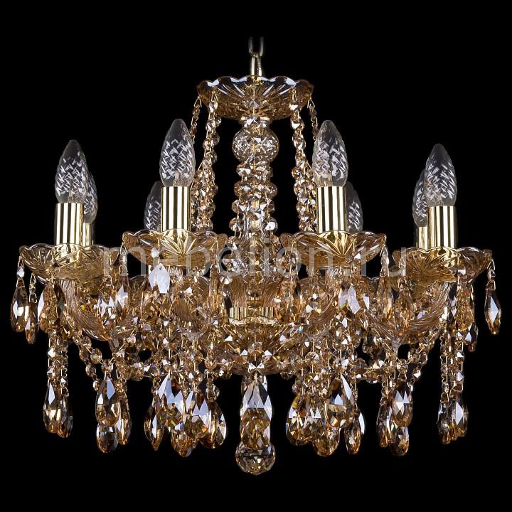 Подвесная люстра Bohemia Ivele Crystal 1413/8/165/G/M721 1413