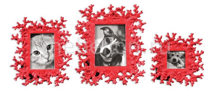 Фоторамка настольная Uttermost Набор из 3 фоторамок настольных Red Coral 18559 uttermost uttermost 19680