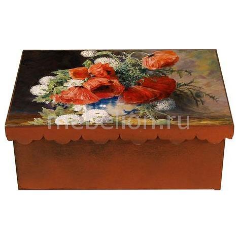 Шкатулка декоративная (26х18х13 см) Маки 1826-16