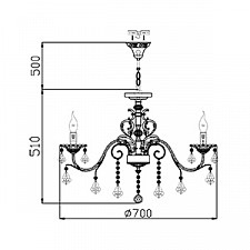Подвесная люстра Maytoni ARM400-07-W Elegant 40