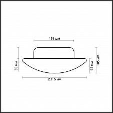 Накладной светильник Odeon Light 2247/1C Opal