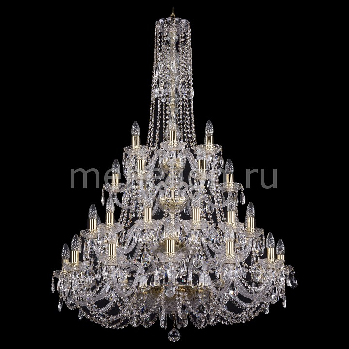 Подвесная люстра Bohemia Ivele Crystal 1406/12+12+6+6/300-130/G 1406
