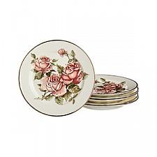 Набор из 6 тарелок плоских Роза 215-062