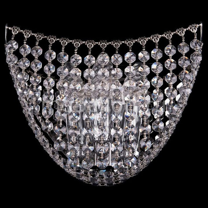 Накладной светильник Bohemia Ivele Crystal 7708/3/W/Ni 7708