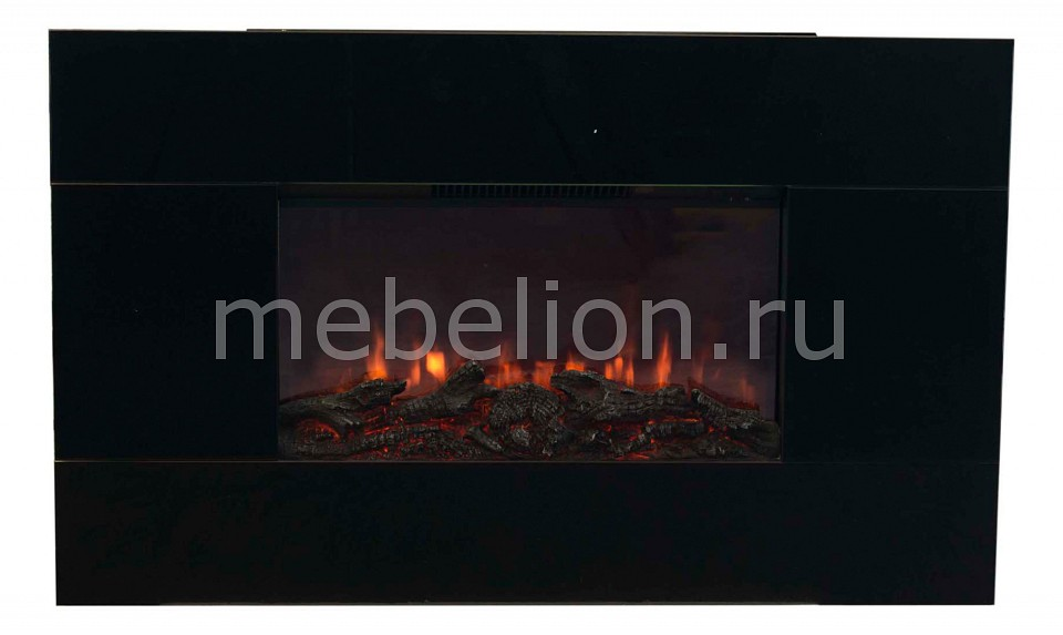 Купить Электрокамин настенный (94х13.2х58 см) Lincoln 00000003986, Real Flame, Россия, черный, железо, стекло