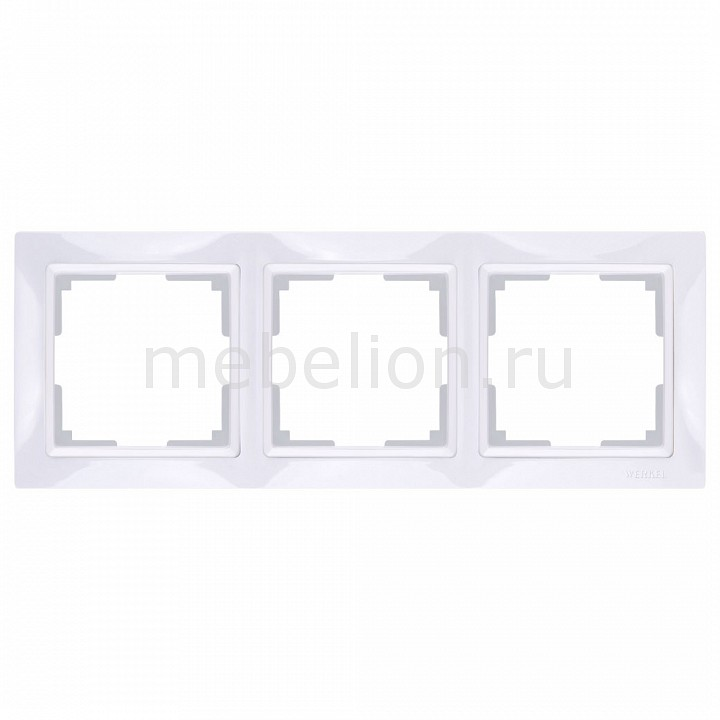 Рамка на 3 поста Werkel Snabb Basic WL03-Frame-03 рамка для розеток и выключателей abb bjb basic 55 бистро 3 поста цвет голубой