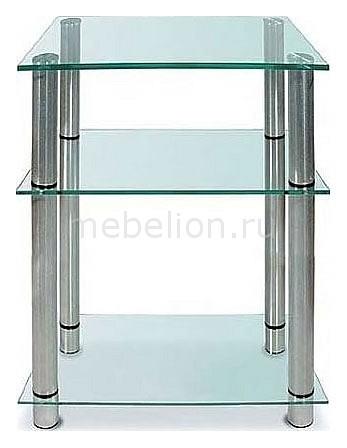 Подставка для ТВ ТВ-3.80 металлик/прозрачное mebelion.ru 8200.000