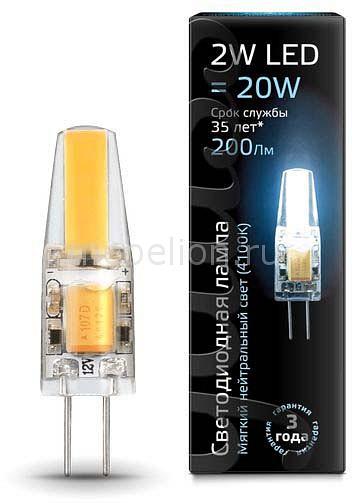 Лампа светодиодная Gauss 1077 G4 220-240В 2Вт 4100K 107707202