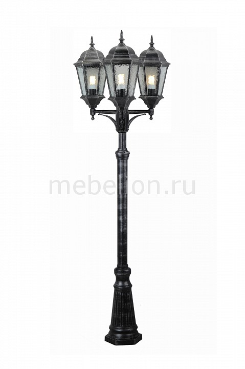 Фонарный столб Genova A1207PA-3BS Arte Lamp Артикул - AR_A1207PA-3BS, Бренд - Arte Lamp (Италия), Серия - Genova, Высота, мм - 2300, Диаметр, мм - 650, Тип крышек, ручек, элементов - E27