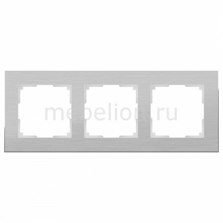 Рамка на 3 поста Werkel Aluminium WL11-Frame-03 werkel рамка aluminium на 4 поста алюминий werkel wl11 frame 04 4690389073663