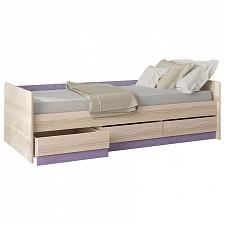 Кровать Индиго ПМ-145.15 ясень коимбра/навигатор