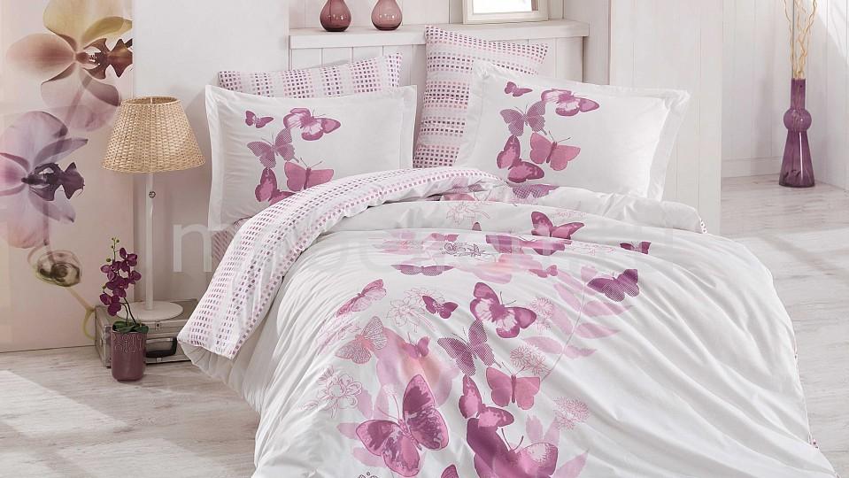 Комплект евростандарт HOBBY Home Collection SUENO комплект постельного белья hobby home collection 1 5 сп поплин sueno лиловый 1501001580