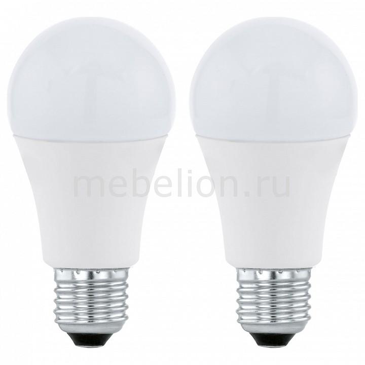 Комплект из 2 ламп светодиодных [поставляется по 10 штук] Eglo Комплект из 2 ламп светодиодных A60 Valuepack E27 60Вт 3000K 11543 [поставляется по 10 штук] комплект из 2 ламп светодиодных eglo led лампы g4 2700k 220 240в 1 2вт 11551