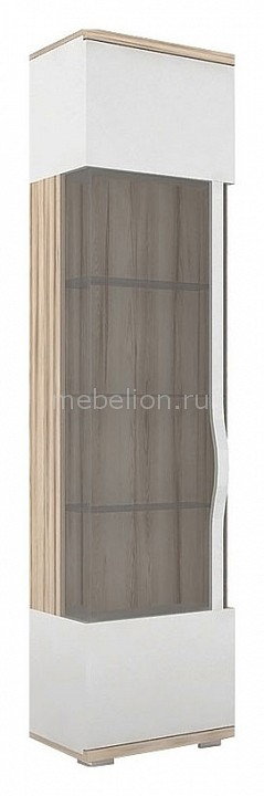 Шкаф-витрина Марта 635.050 белый/дезира эш