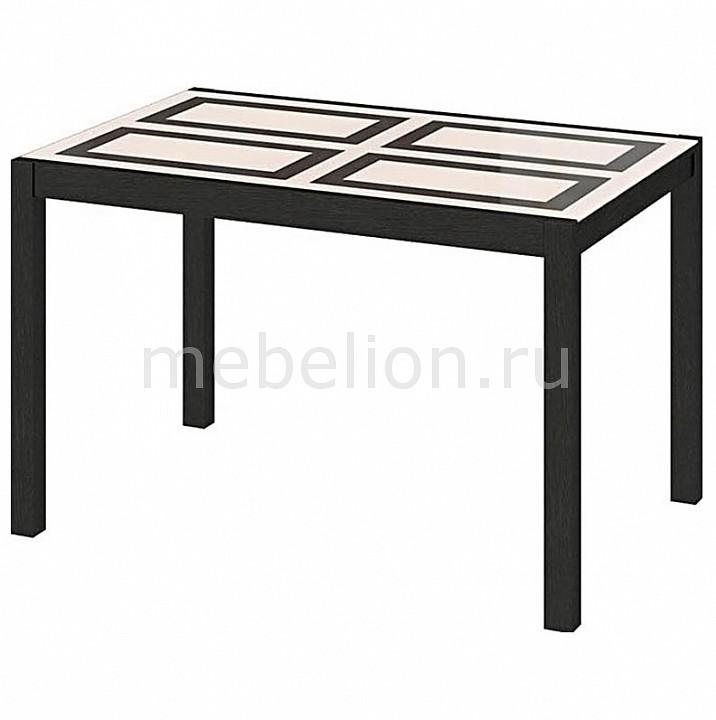 Стол обеденный Мебель Трия Диез Т5 С-346 венге/рисунок стол обеденный мебель трия диез т5 с 302 1 венге дуб сильвер