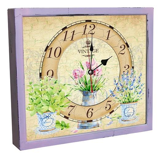 Настенные часы Акита (34х30 см) Цветы в горшках 3034-12