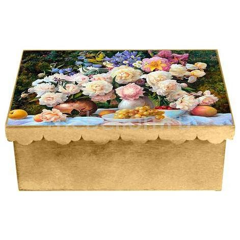 Шкатулка декоративная (26х18х13 см) Пионы 1826-9-1