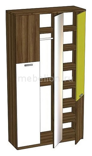 Шкаф платяной Модекс 505.060 ноче марино/белый/хаки