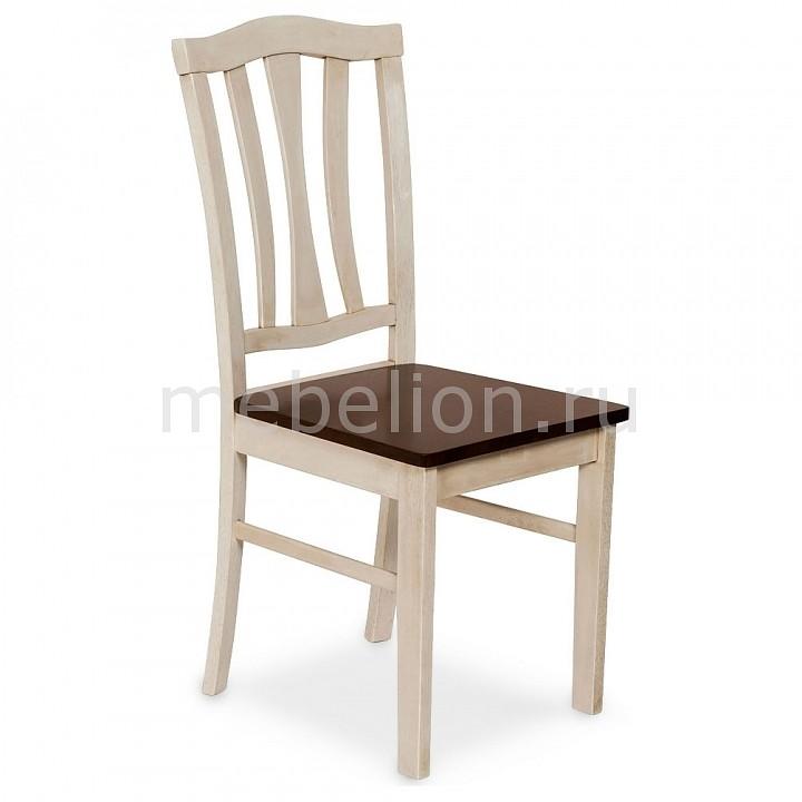 Стул Tetchair СТ 8162 белый античный/дуб темный tetchair обеденный стол tetchair эмир ст 3760р leg d античный белый темный дуб