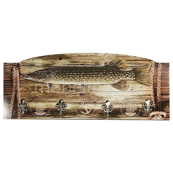 Настенная вешалка (60х25 см) Рыба S27