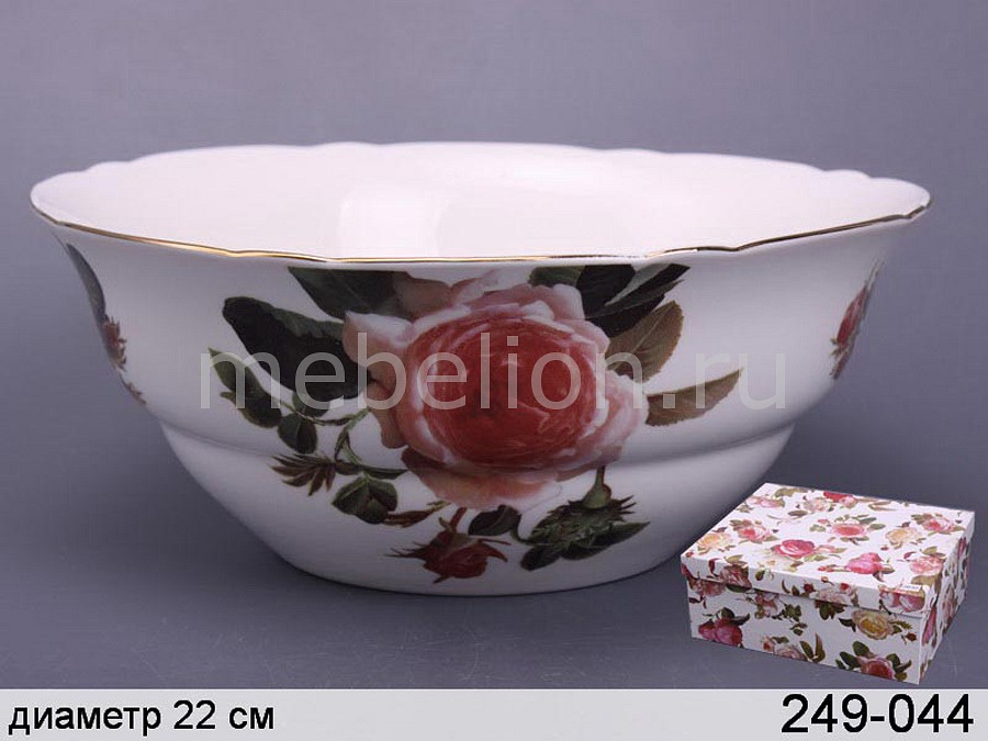 Салатник Porcelain manufacturing factory Роза 249-044 менажница porcelain manufacturing factory 388 097