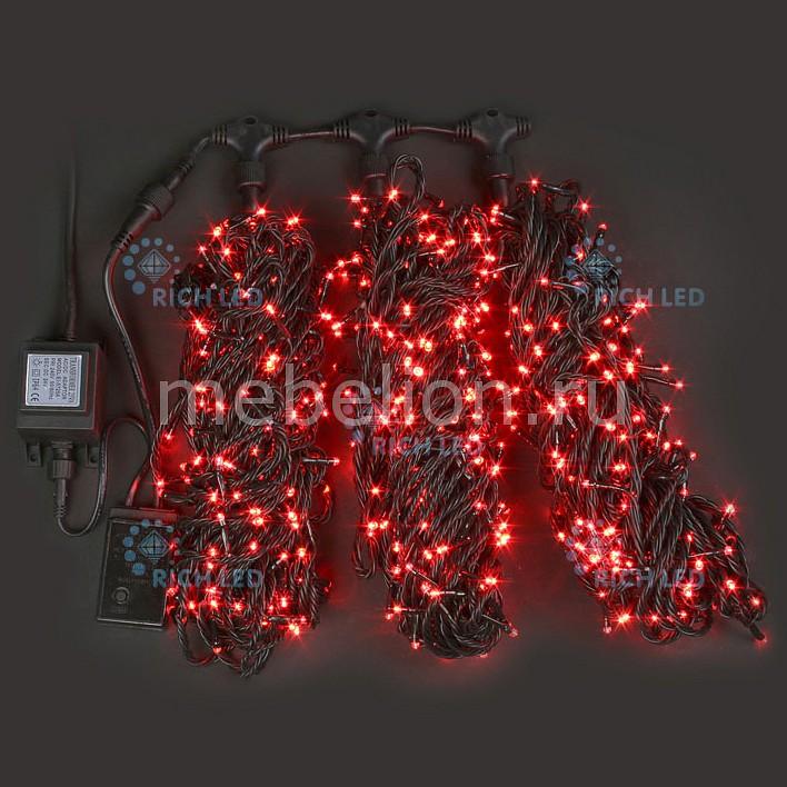Гирлянда на деревья RichLED (3х20 м) RL-T3*20N2-B/R гирлянда электрическая lunten ranta сосулька 20 светодиодов длина 2 85 м