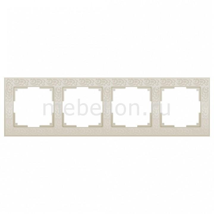 Рамка на 4 поста Werkel Flock WL05-Frame-04-ivory цена