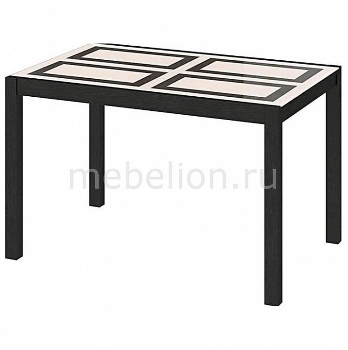Стол обеденный Мебель Трия Диез Т4 С-345 венге/рисунок стол обеденный мебель трия диез т5 с 302 1 венге дуб сильвер