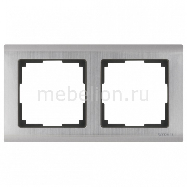 Рамка на 2 пост Metallic WL02-Frame-02 от Mebelion.ru