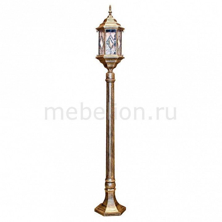 Наземный высокий светильник Feron Витраж с ромбом 11348 фонарный столб feron витраж с ромбом 11340