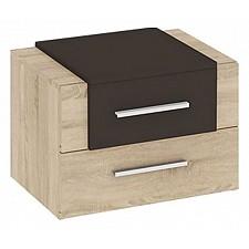 Тумбочка Мебель Трия Ларго ПМ-181.03.01 дуб сонома/какао глянец
