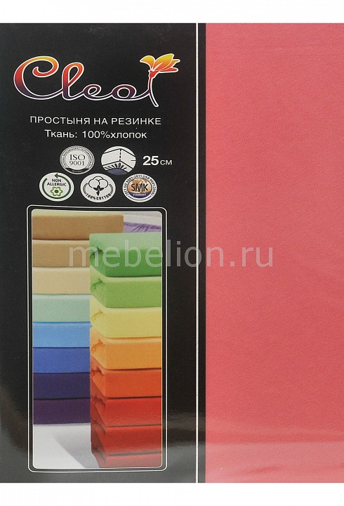 Простыня на резинке Cleo (180х200 см) Cleo мышь perfeo dreamgear usb black red pf 1711 gm page 7