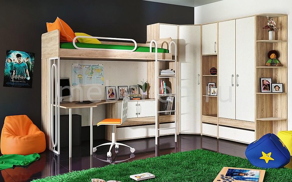Гарнитур для детской Атлас ГН-186.004 дуб сонома/хаотичные линии  как выбрать диван кровать для ежедневного использования