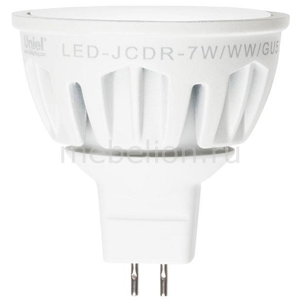 Лампа светодиодная Uniel GU5.3 175-265В 7Вт 4500K LED-JCDR-7W/NW/GU5.3/FR ALM01WH