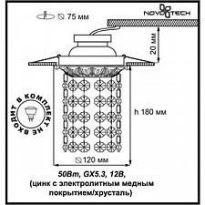 Встраиваемый светильник Novotech 369986 Grape