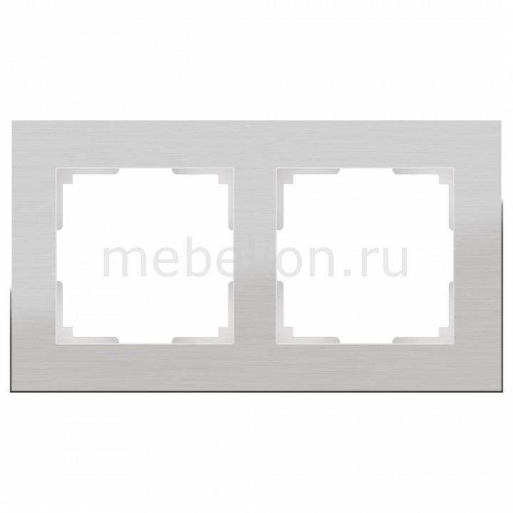Рамка на 2 поста Werkel Aluminium WL11-Frame-02 werkel рамка aluminium на 4 поста алюминий werkel wl11 frame 04 4690389073663