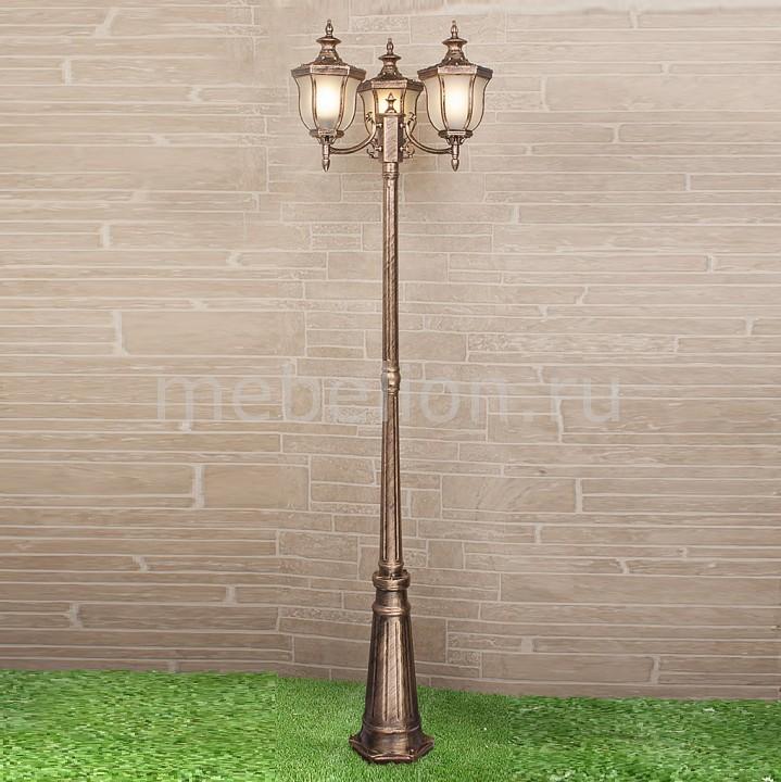 Фонарный столб Elektrostandard Taurus F/3 черное золото (арт. GLXT-1458F/3) садовый светильник elektrostandard taurus f 3 малахит арт glxt 1458f 3