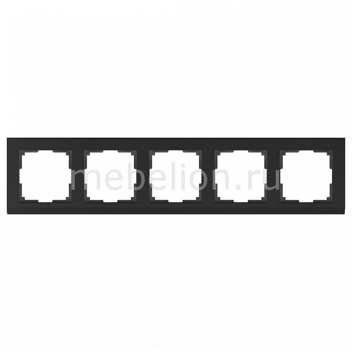 Рамка на 5 постов Werkel Stark WL04-Frame-05-black stark s103 black