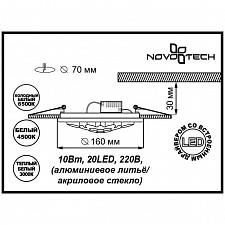 Встраиваемый светильник Novotech 357316 Lago