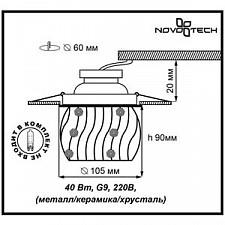 Встраиваемый светильник Novotech 370157 Zefiro
