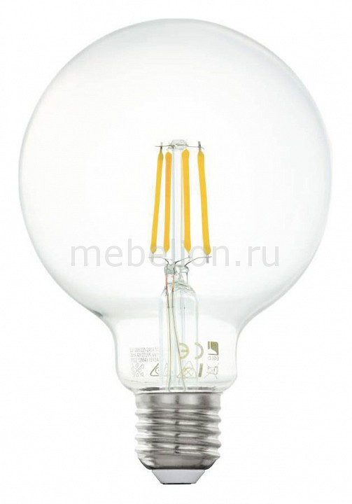 Лампа светодиодная Eglo G95 E27 4Вт 2700K 11502 eglo бра eglo marbella 85859 lk5yf k g