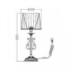 Настольная лампа Maytoni ARM290-11-G Sunrise