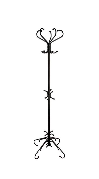 Вешалка напольная Мебелик Вешалка-стойка М-5 черный вешалка стойка brabix cr 274 металл мрамор 1 8 м на диске диаметр 38см 5 крючков 4 дополнительных венге 601744