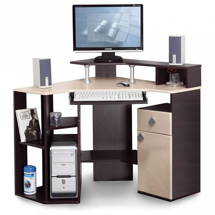 Стол компьютерный Костер-7 5210-00 венге/клен светлый mebelion.ru 5111.000