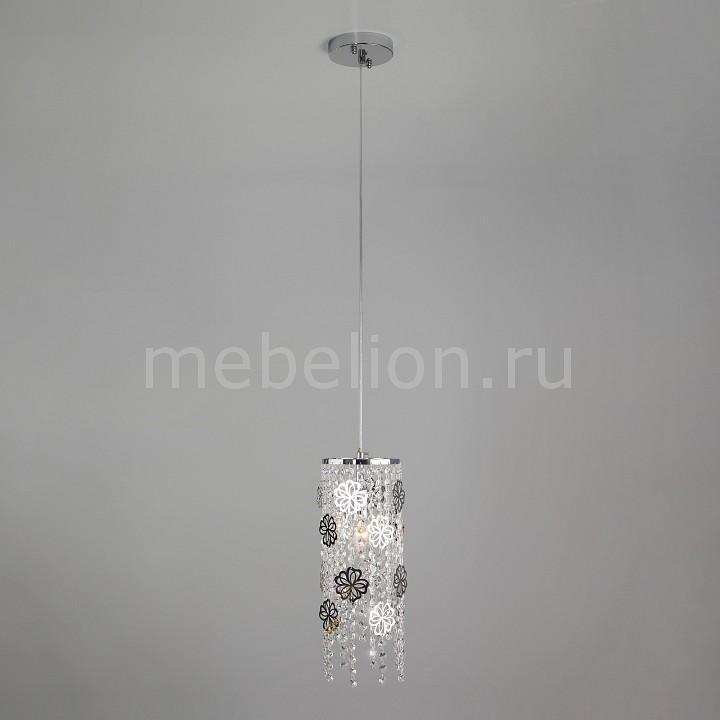 Подвесной светильник Eurosvet 10083/1 хром/прозрачный хрусталь Strotskis