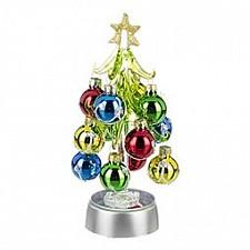 Ель световая с елочными шарами (18 см) ART 594-039