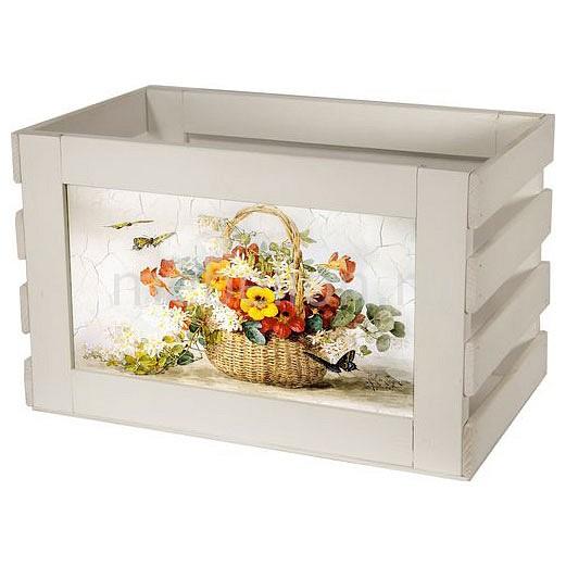 Ящик для хранения Акита Корзина с цветами 807W akita